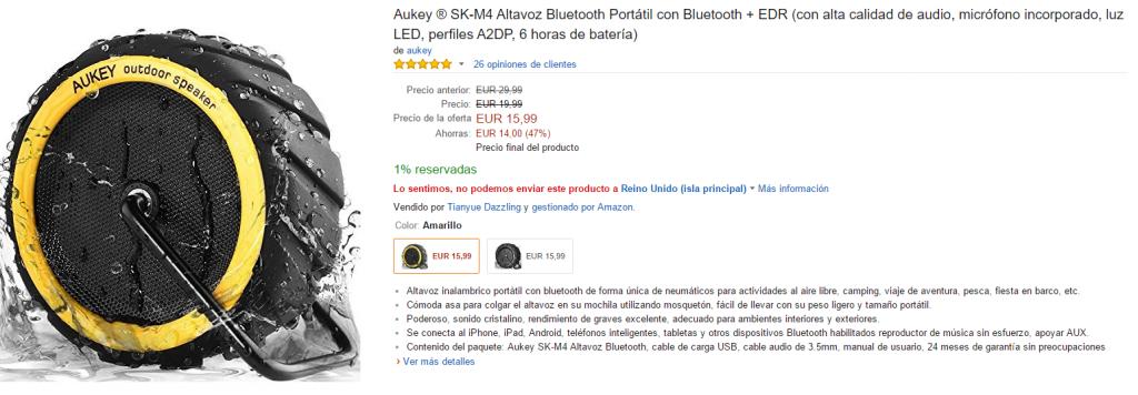 2016-01-27 19_14_27-Aukey ® SK-M4 Altavoz Bluetooth Portátil con Bluetooth + EDR (con alta calidad d