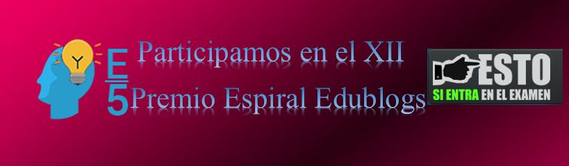 Participación en el XII Premio Espiral Edublogs